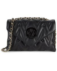 Valentino By Mario Valentino Lynnd Studded Leather Crossbody Bag - Black