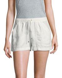 Max Studio - Drawstring Linen Shorts - Lyst