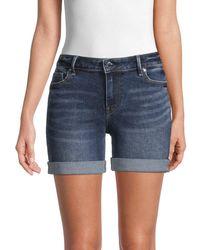 True Religion Women's Jayde Rolled-cuff Denim Shorts - Indigo - Size 24 (0) - Blue
