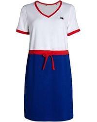 Tommy Hilfiger Tri-tone T-shirt Dress - White