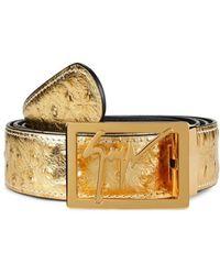 Giuseppe Zanotti Laslo Metallic Leather Belt