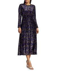 Rachel Comey - Women's Astraea Sequin Long Sleeve Dress - Purple - Size 0 - Lyst