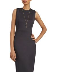 Gorjana Crescent Shimmer Cubic Zirconia Pendant Necklace - Black