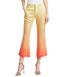Each x Other - Rainbow Cropped Satin Trousers - Lyst