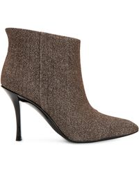 Calvin Klein Mim Leather Booties - Brown