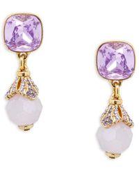 Heidi Daus Goldtone & Crystal Cushion Dangle Earrings - Multicolor