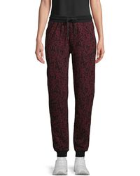 Marc New York Printed Cotton Jogger Trousers - Multicolour