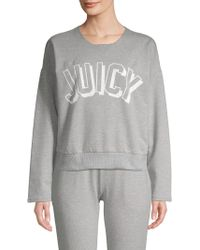 Juicy Couture Graphic Heathered Pullover - Gray