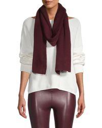 Portolano Women's Ribbed Merino Wool-blend Oblong Scarf - Bordeaux - Purple