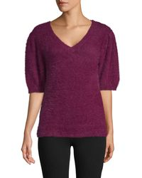 525 America Textured Plush Top - Purple