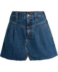 Free People Sidecar Denim Mini Skirt - Blue