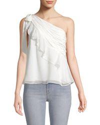 Cinq À Sept - Caspian One-shoulder Silk Top - Lyst