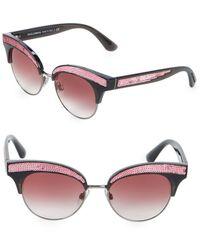 8b563ef9b249 Lyst - Dolce   Gabbana 50mm Sequin Trim Cateye Sunglasses in Blue ...