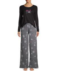 Hue - Two-piece Burr-lizzard Pyjama Set - Lyst