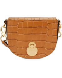Longchamp Leather Crossbody Bag - Brown