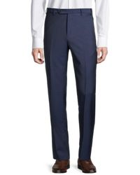 Zanella Men's Pleated Wool Trousers - Dark Beige - Size 40 - Natural