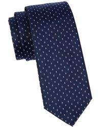 BOSS by HUGO BOSS Geometric-print Silk Tie - Blue