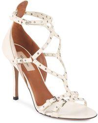 Valentino - Grommet Leather Stiletto Sandals - Lyst