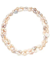 Tara Pearls - Sterling Silver & 13-15mm Baroque Pearl Layered Necklace - Lyst