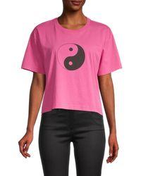 Rebecca Minkoff Courtney Yin Yang Graphic T-shirt - Pink