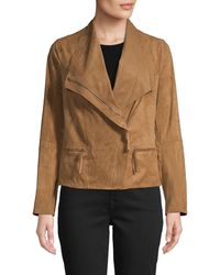 Max Studio Asymmetrical Zip-front Jacket - Multicolour