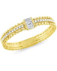 KC Designs - Baguette Diamond Stack Yellow Gold Ring - Lyst