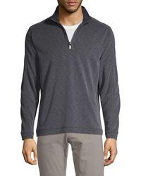 Saks Fifth Avenue Long-sleeve Half-zip Pullover - Purple