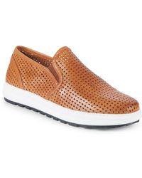 Vince Camuto - Sebasten Leather Slip-on Sneakers - Lyst