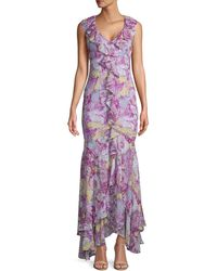 Likely Kendall Floral Dress - Purple