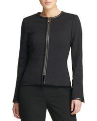 Donna Karan - Fall 18 Ponte Zip Jacket - Lyst