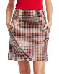 Akris Punto Women's Houndstooth A-line Skirt - Size 10 - Multicolour