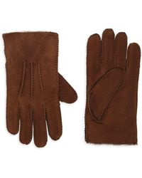 Portolano - Shearling-lined Suede Gloves - Lyst
