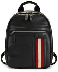 Bally Men's Tarrot Leather Backpack - Black
