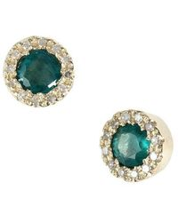 Effy - Brasilica 14kt. Yellow Gold Emerald And Diamond Earrings - Lyst