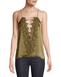 Cami NYC - Charlie Charmeuse Lace-up Top - Lyst