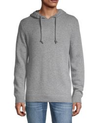 French Connection Cashmere-blend Hoodie - Grey