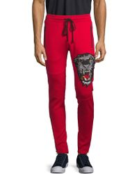 Robin's Jean - Graphic Embroidery Side Zip Jogging Pants - Lyst
