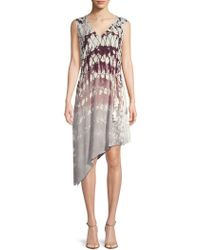 Young Fabulous & Broke - Printed Asymmetric Dress - Lyst