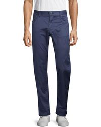 BOSS by Hugo Boss Maine Regular-fit Stretch-cotton Trousers - Blue