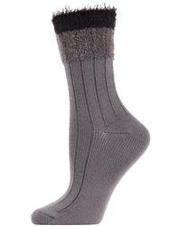 Memoi - Parfait Striped Crew Socks - Lyst