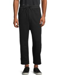 Y-3 Men's Drawstring Cotton-blend Trousers - Black - Size Xl