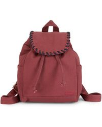 Peace Love World Small Whipstitch Backpack - Red