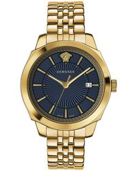 Versace Icon Classic Ip Gold Stainless Steel Bracelet Watch - Metallic