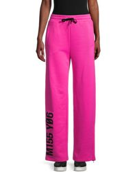 RED Valentino Women's Graphic Jersey Sweatpants - Magenta - Size S - Pink