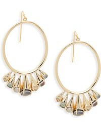 Alexis Bittar - Goldtone & Multi-color Lucite Hoop Dangle Earrings - Lyst