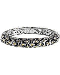 John Hardy Jaisalmer 18k Gold & Sterling Silver Bangle - Metallic