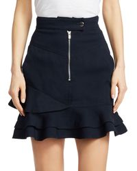 Derek Lam - Ruffle-hem Mini Skirt - Lyst