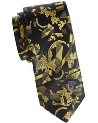 Versace - Textured Abstract Silk Tie - Lyst
