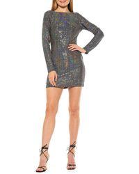 Alexia Admor Holographic V-back Mini Dress - Black