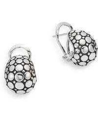 John Hardy - Dot Sterling Silver Buddha Belly Earrings - Lyst